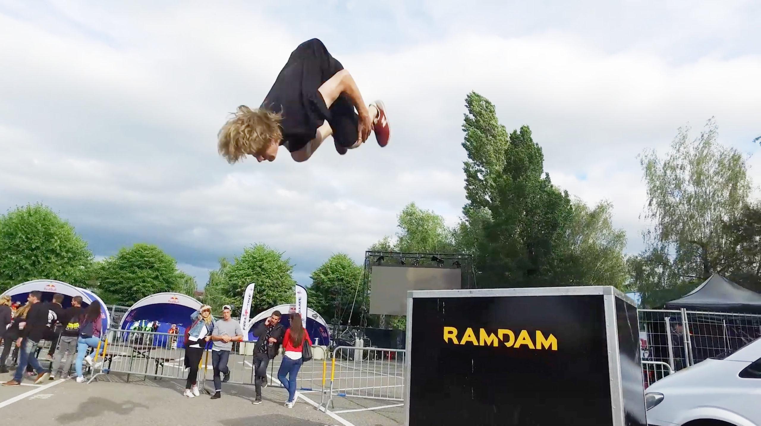Caryl Cordt Moller s'envole au Free4style avec son team Ramdam en Parkour