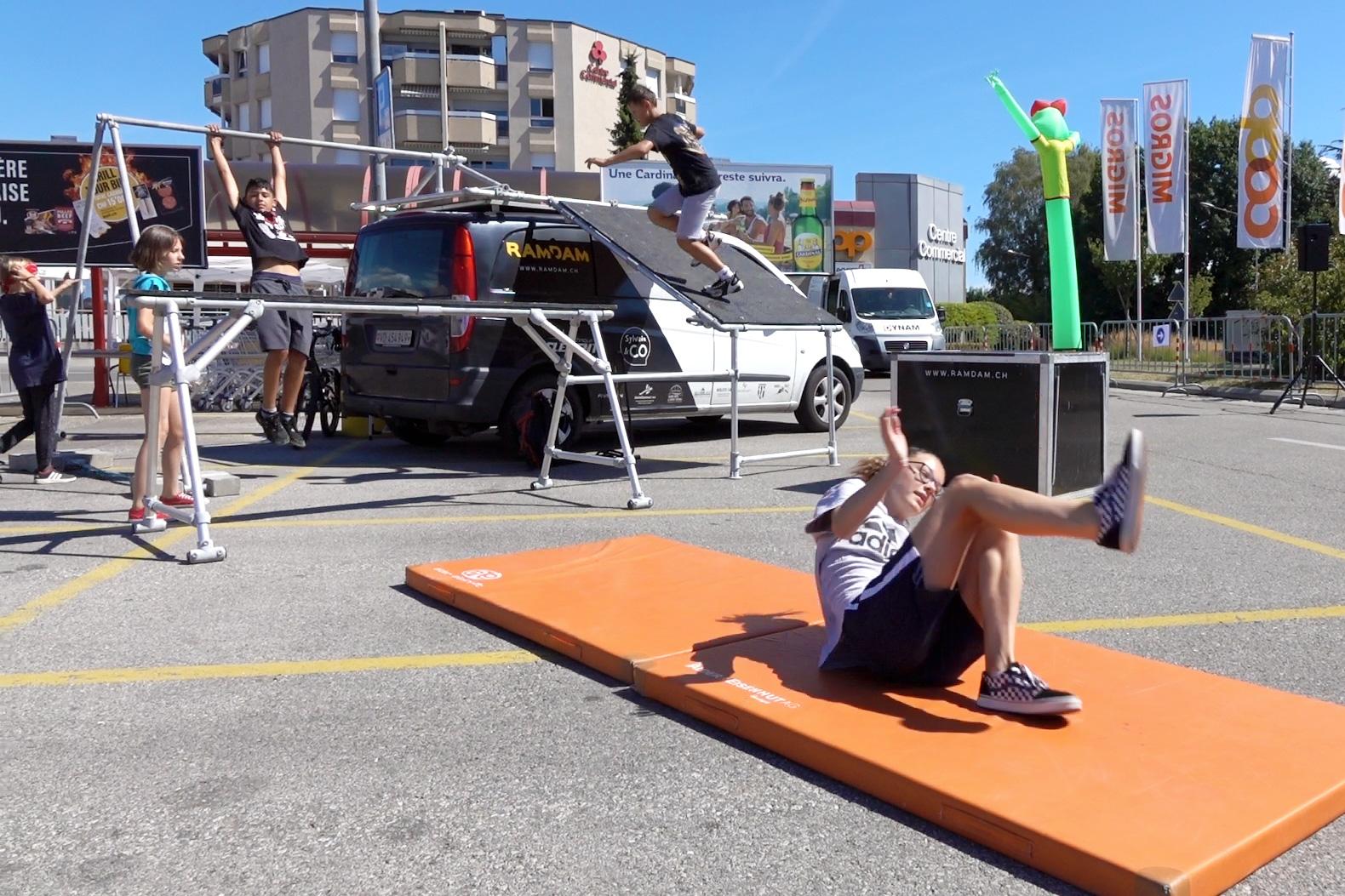 initiations parkour et freerunning avec encadrée par un athlète de parkour professionnel