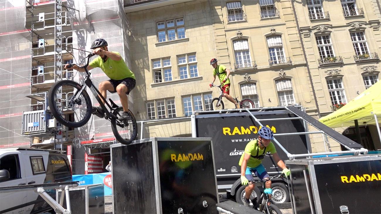 show et animation VTT trial freestyle par le Team Ramdam